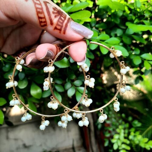 Gold Bali With Pearl