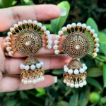 Pearl topped Antique Earrings
