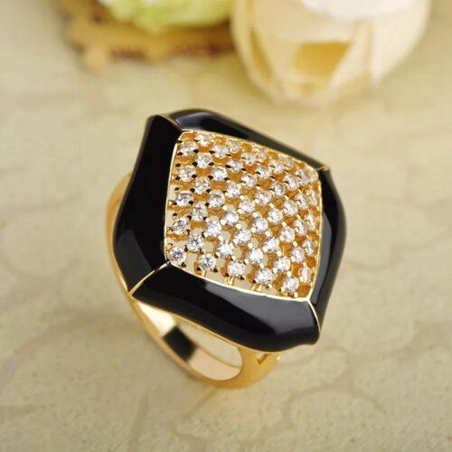 Black Meena Ring